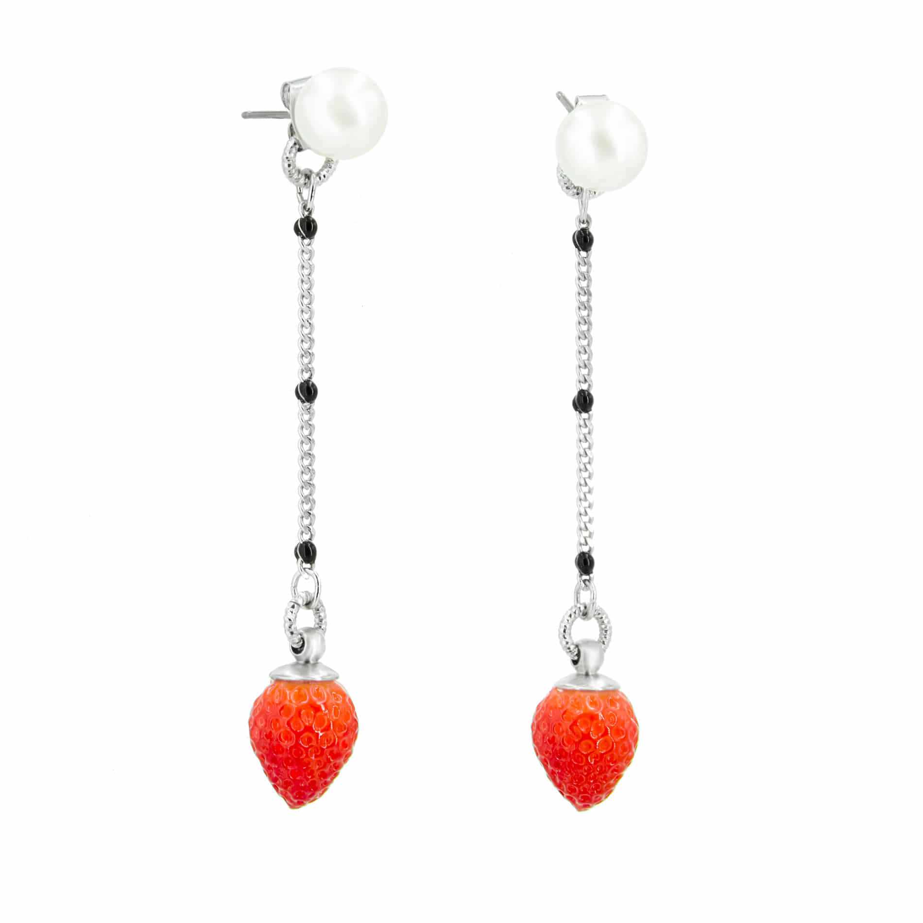 MINI STRAWBERRY DROP EARRINGS