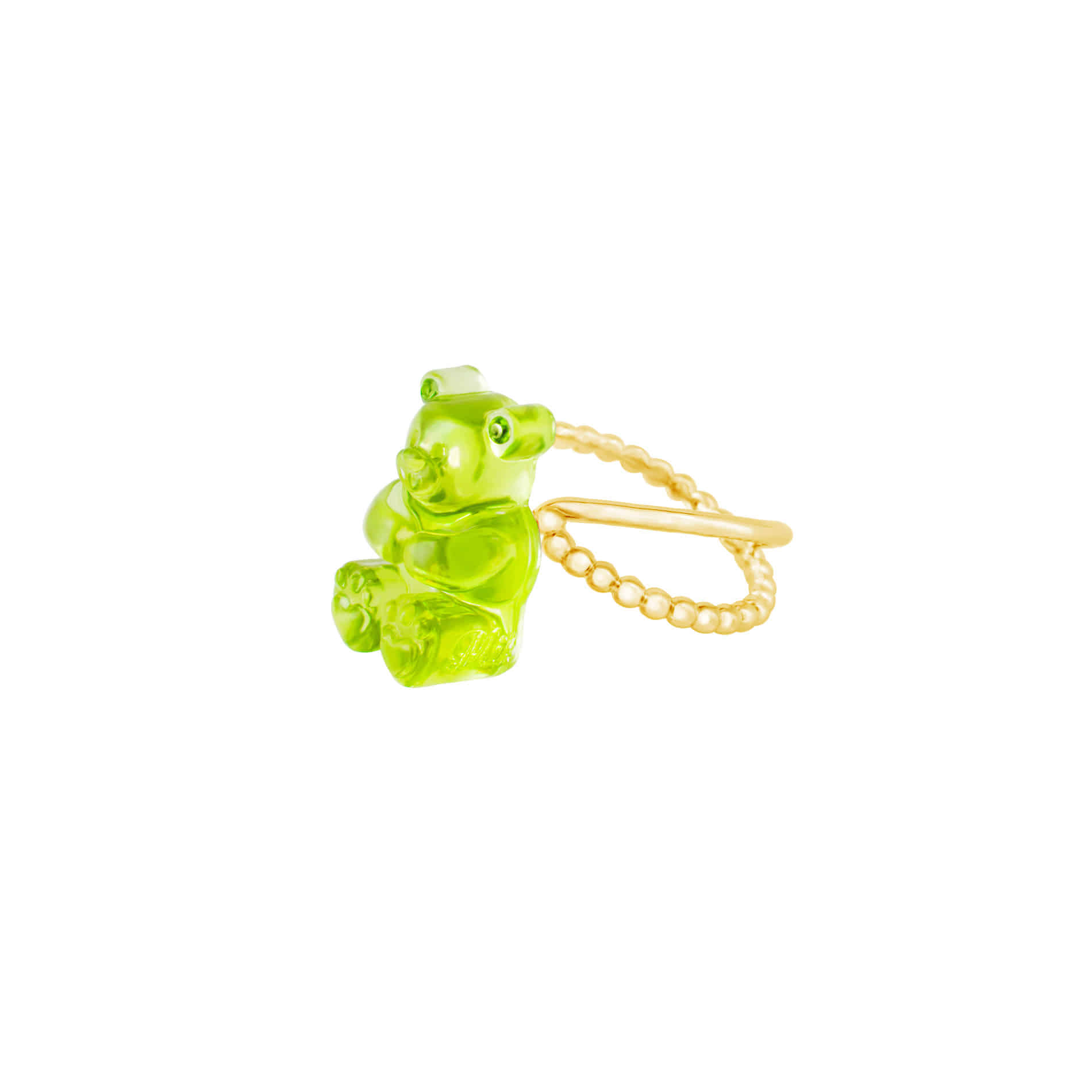 GUMMY BEAR RING (LIGHT GREEN)