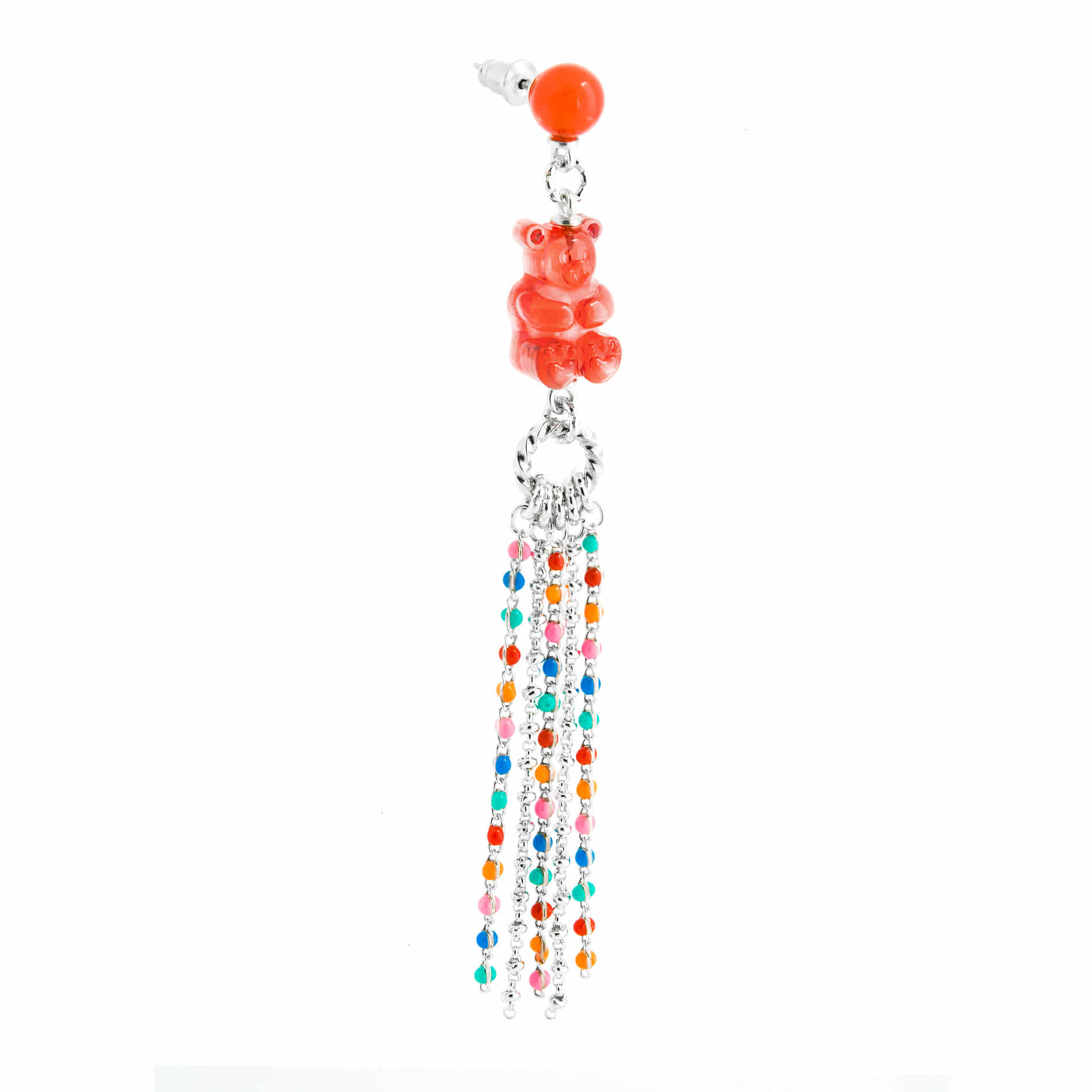 GUMMY BEAR CHANDELIER EARRING (RED)