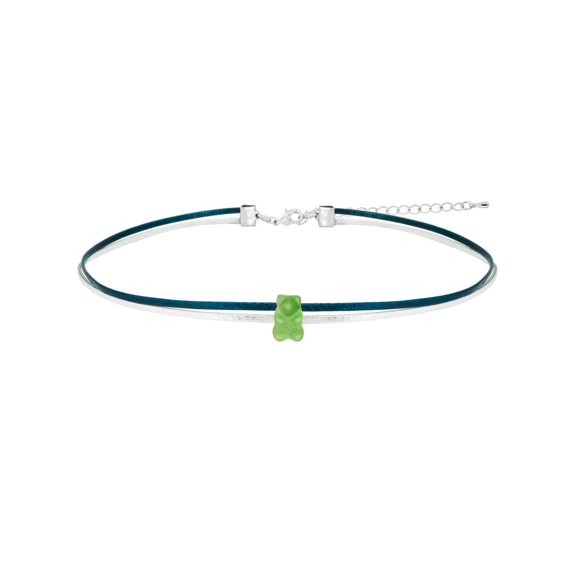 JELLY BEAR CHOKER NECKLACE (GREEN)