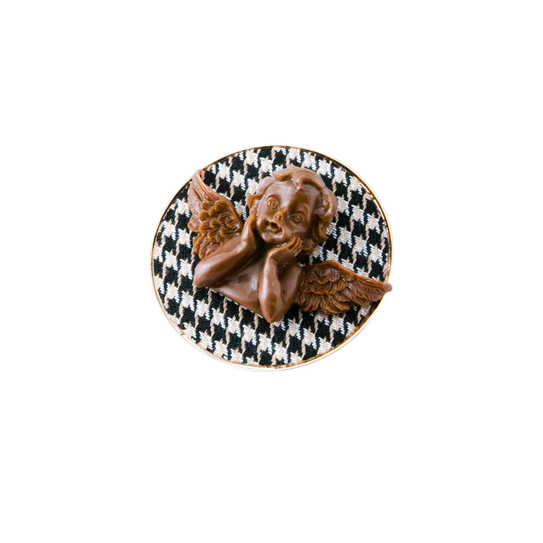 MILK CHOCOLATE ANGEL BROOCH (BLACK)